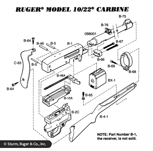 Ruger 10 22 Diagram Parts